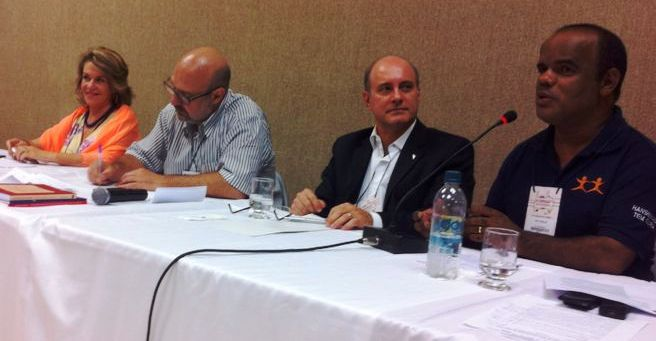 Lenir Santos, Paulo Capucci, Luis Eugenio e Enir Carajá na II Expogep