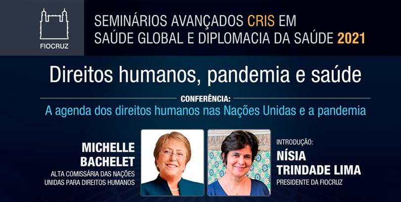Alta Comissionada da ONU, Michelle Bachelet, faz conferência magna ao vivo nesta quinta-feira (15)