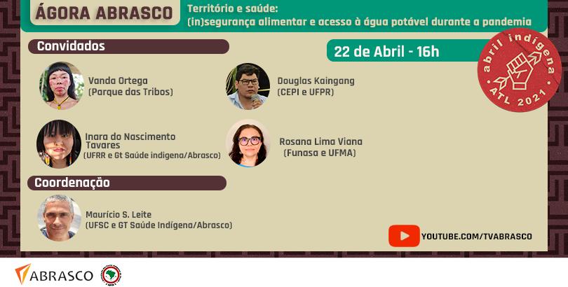 Insegurança alimentar é tema da Ágora Abrasco desta quinta-feira (22)