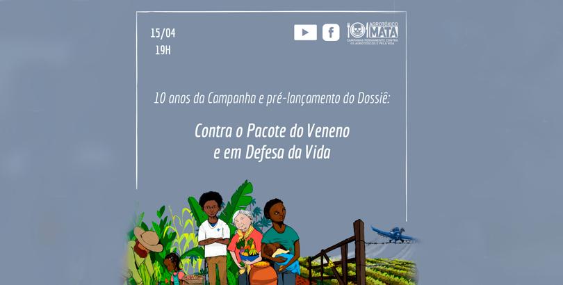 Novo dossiê contra os agrotóxicos e pela agroecologia será lançado nesta quinta, dia 15