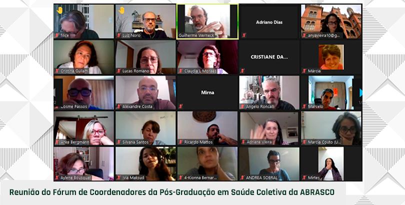 Fórum de Coordenadores de Pós da Abrasco debate solidariedade como norte