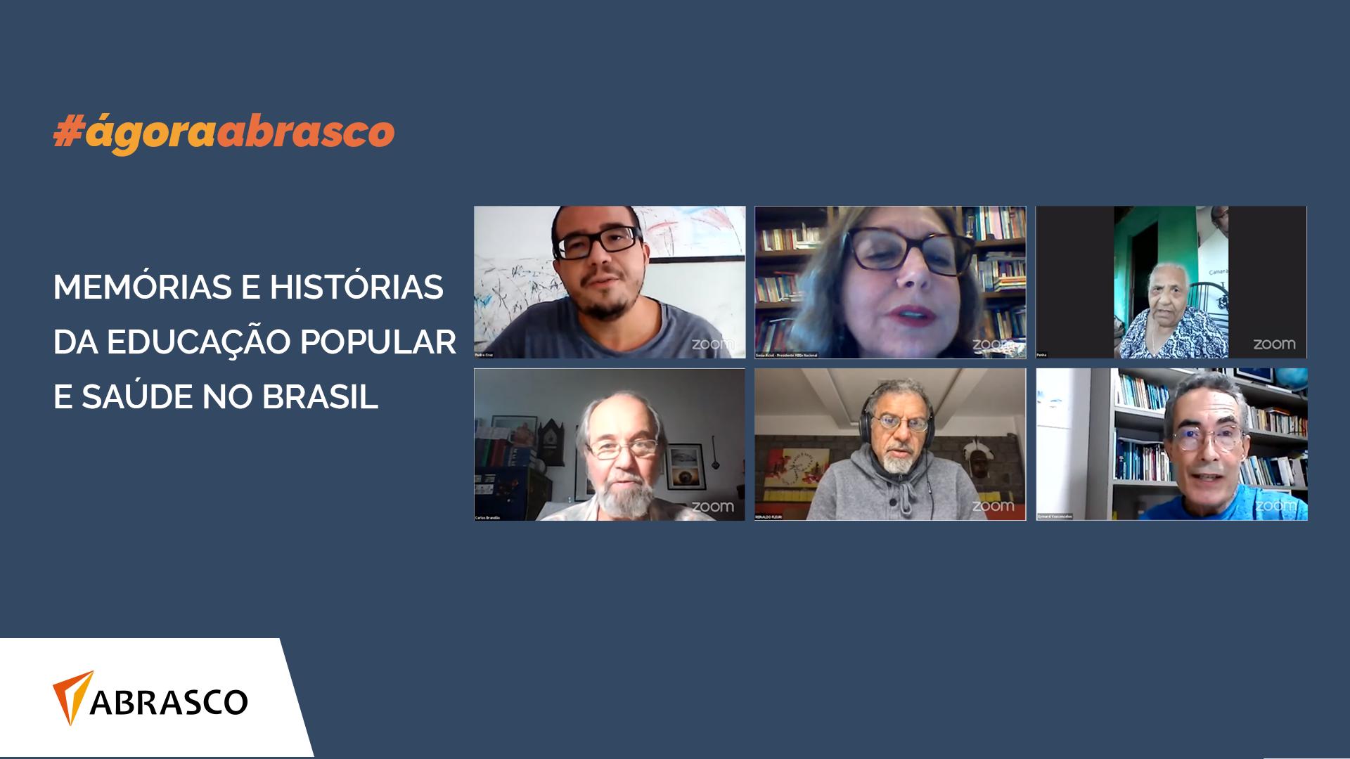 Ágora Abrasco debate caminhos para Educação Popular e Saúde no Brasil